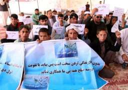 Afghan hunger strikers protesting for peace taken to hospital