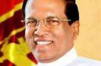 سری لنکن صدر متھری پالا سری سینا 3دناں دے دورے اُتے پاکستان اپڑ گئے
