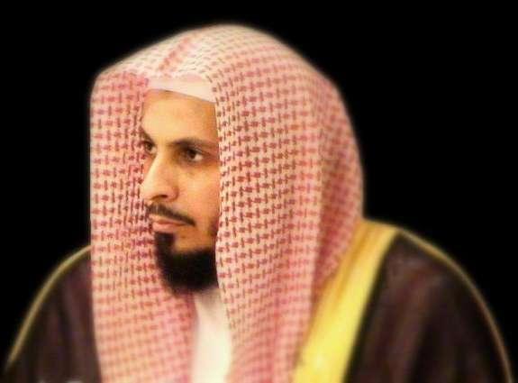 إمام وخطيب المسجد الحرام الشيخ الدكتور صالح بن آل طالب يلتقي قائد الجيش الباكستاني