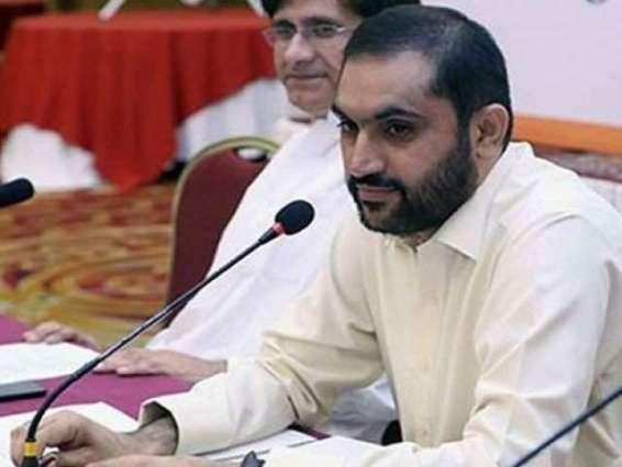 د سېنېټ چيئرمېن او دوهم چيئرمېن د ټاكنو په موقع د بلوچستان وزيراعلٰی او  د كابينې غړي په ګيلرۍ كښې موجود وو