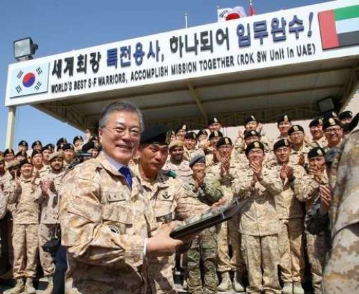 Moon Jae-in commends S. Korean troops as symbol of friendship, cooperation with UAE