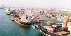 Shipping activity at Port Qasim 25 April 2018