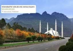 Pindi boys put Islamabad for sale on OLX