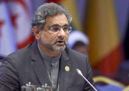 Prime Minister Shahid Khaqan Abbasi interacts with several leaders on sideline of Commonwealth Summit