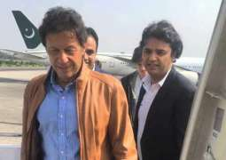 The chairman Pakistan Tehreek-e-Insaaf (PTI) Imran Khan leaves for London
