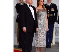 Donald Trump, Melania Trump host first state dinner with a straight face