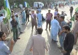 Jamat-e-Islami continues protest against prolonged electricity, water shortages in Karachi