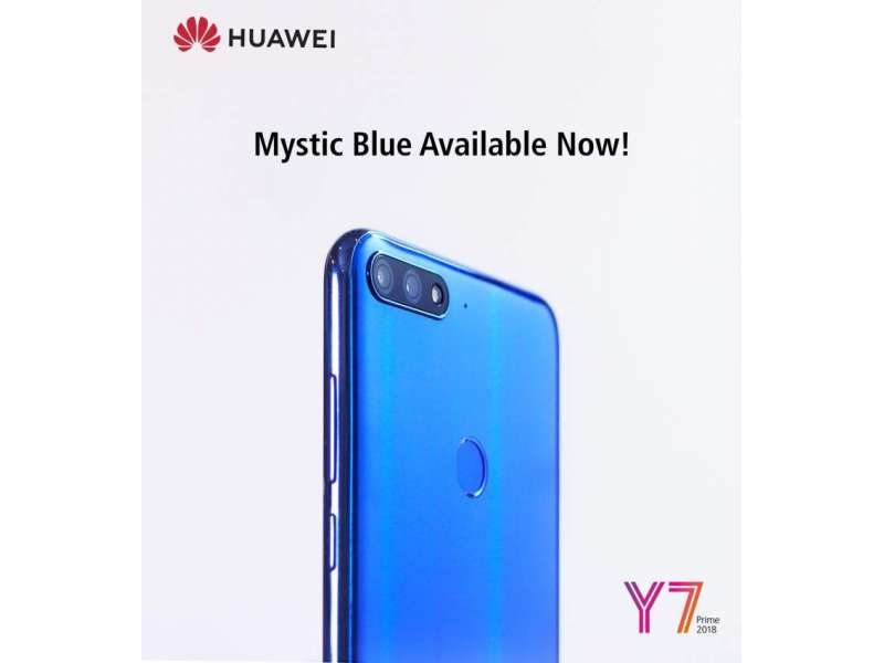 HUAWEI Y7 Prime 2018 Puts The Market On Fire Again With Mystic Blue