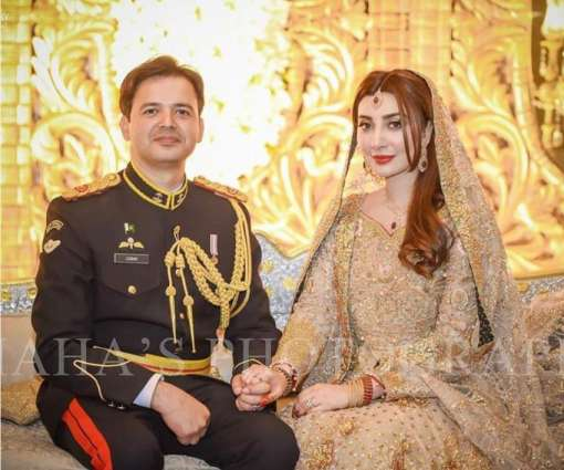 Aisha Khan's husband Major Uqbah wears army uniform on reception
