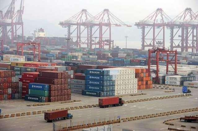 Shipping activity at Port Qasim 16 April 2018
