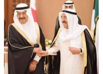 أمير الكويت يستقبل رئيس وزراء مملكة البحرين