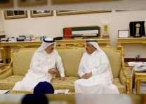 سعود المعلا وحمدان بن راشد يتبادلان التهاني بشهر رمضان المبارك