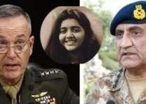 قائد القيادة المركزية الأمريكية يعزي مع رئيس أركان الجيش الباكستاني في وفاة طالبة باكستانية