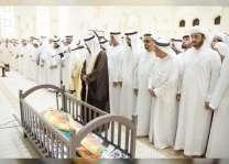 حاكم رأس الخيمة وولي عهده يؤديان صلاة الجنازة على جثمان عبدالله سلطان الشرهان