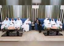 حاكم أم القيوين يستقبل المهنئين بشهر رمضان المبارك