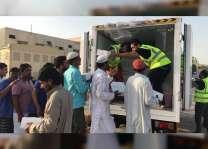"""شرطة دبي توزع 4 آلاف وجبة على العمال ضمن مبادرة """" إفطار صائم """""""