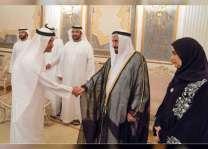 """حاكم الشارقة يتلقى التهاني بشهر رمضان من رئيس و أعضاء """" الوطني الإتحادي"""""""
