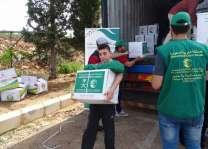 مركز الملك سلمان للإغاثة يواصل لليوم التاسع توزيع السلال الرمضانية على اللاجئين السوريين في لبنان