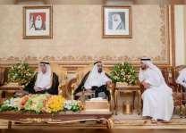 حاكم الشارقة يستقبل المهنئين بشهر رمضان الفضيل