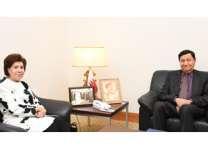 مستشار جلالة الملك للشؤون الاقتصادية يستقبل سفيرة مملكة البحرين لدى مملكة بلجيكا والاتحاد الأوروبي