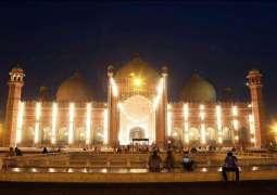 Badshahi Mosque was a sight for sore eyes on Shab-e-Barat