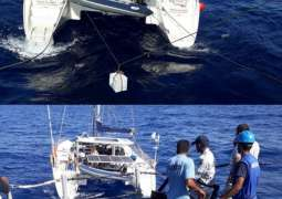 Pakistan Navy Ship Alamgir Provides Logistic Assistance To Sailing Yacht In Open Sea