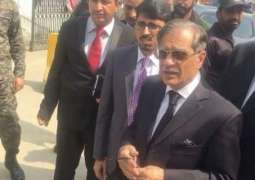 Chief Justice of Pakistan Justice Saqib Nisar questions law banning protests in capital's Red Zone