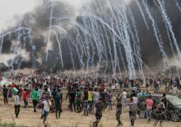 Israeli troops fire shots, tear gas at Gaza protesters; 1100 Palestinians hurt