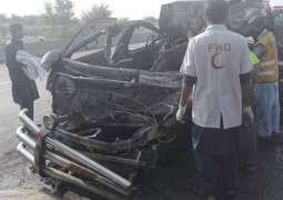 Four injured in trailer-van collision in Hyderabad