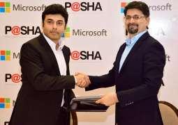 Microsoft Pakistan and P@SHA sign partnership for cloud based trainings