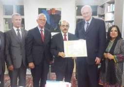 AJK president is recognised by UPF as Ambassador of Peace