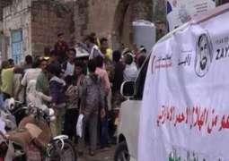 الهلال الأحمر الاماراتي يواصل تقديم مساعداته في تعز