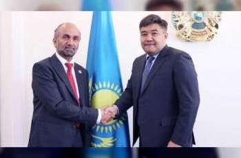 رئيس المجلس العالمي للتسامح يلتقي وزير الأديان في كازاخستان