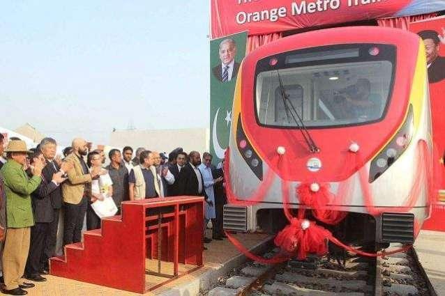 Shehbaz inaugurates Orange Line Metro Train test run
