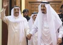 خادم الحرمين الشريفين يتلقى اتصالاً هاتفياً من سمو أمير الكويت