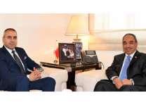 وزير الأشغال يبحث مع السفير اللبناني سبل التعاون المشترك