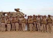 شخبوط بن نهيان يزور قوة الواجب الإماراتية العاملة ضمن التحالف العربي في الحد الجنوبي للسعودية