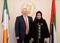 أمل القبيسي و رئيس مجلس النواب الإيرلندي يبحثان سبل تفعيل العلاقات البرلمانية