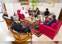 عبدالله بن زايد يلتقي عددا من المسؤولين في الهند