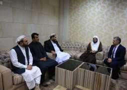 الشيخ الثبيتي يلتقي برئيس مجلس الشيوخ الأفغاني