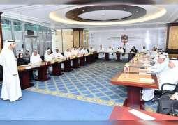 بلحيف النعيمي يشهد الإجتماع  التحضيري للاجتماعات السنوية للحكومة 2018