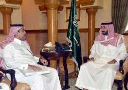 الأمير عبدالله بن بندر يتسلم تقارير أعمال شركة المياه الوطنية في المنطقة