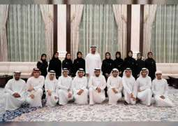Mohamed bin Zayed receives national departments' delegation, stresses importance of human resources