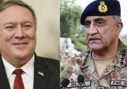 Pompeo, Pak Army chief talk 'political reconciliation' in Afghanistan