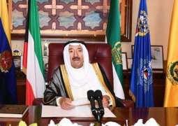 أمير الكويت: نسعى الى حث مجلس الأمن والمجتمع الدولي لتحمل مسؤولياته تجاه معاناة الشعب الفلسطيني