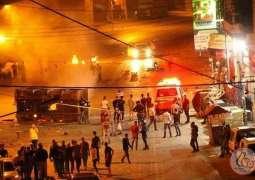 8 اصابات برصاص الاحتلال احداها خطيرة خلال اقتحام مدينة نابلس
