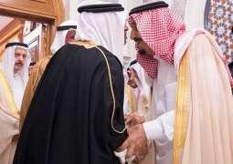 خادم الحرمين الشريفين يستقبل رئيس جمهورية غينيا وولي عهد مملكة البحرين ورئيس مجلس الأمة بدولة الكويت