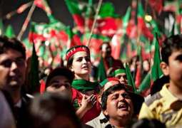 Pakistan Tehreek-e-Insaf (PTI) workers protest outside Imran's residence over differences on party tickets
