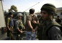 قوات الاحتلال الاسرائيلي يعتقل 9 فلسطينيين في الضفة الغربية