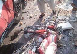 Two died in D.I Khan coach-bike collision